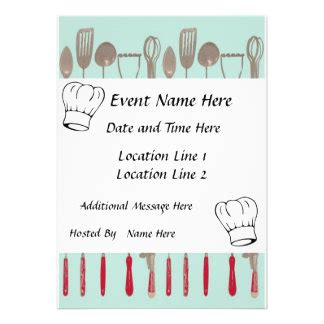 pampered chef invites  pampered chef invitation templates
