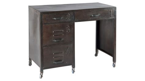 bureau acier bureau en acier 4 tiroirs sur roulettes bureau