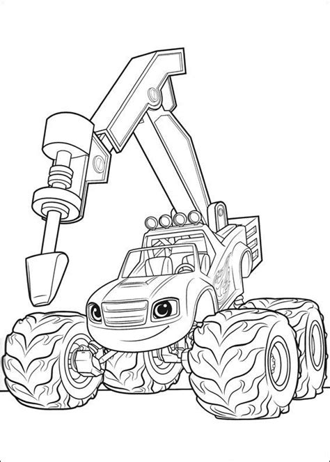 blaze   monster machines coloring pages  coloring pages  kids monster truck