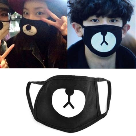 Fashion Ayo and Teo Face Mask panda bape mask bear mouth