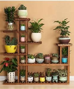 7, Tier, Versatile, Indoor, Plant, Shelf, Decorative, Wood, Plant, Stand, Plant, Holder