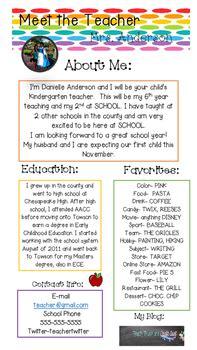 editable teacher introduction flyer  teach trust
