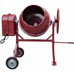 Northern Industrial Portable Electric Cement Mixer — 4.1 ...