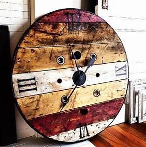 Table Basse Horloge : table basse palette industrielle vintage 15 une horloge geante a fabriquer a partir d un ~ Teatrodelosmanantiales.com Idées de Décoration