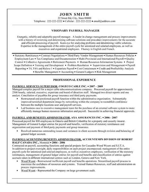 Hr Payroll Resume by Pin By Sue On All About Work Accountant Resume