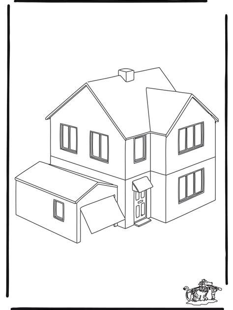desenho  colorir de casa az dibujos  colorear
