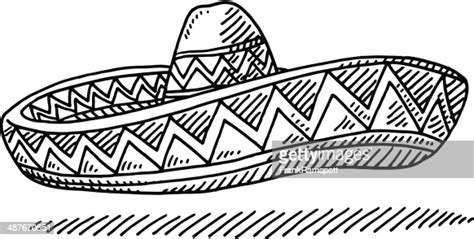 sombrero chapeau mexcian dessin illustration getty images