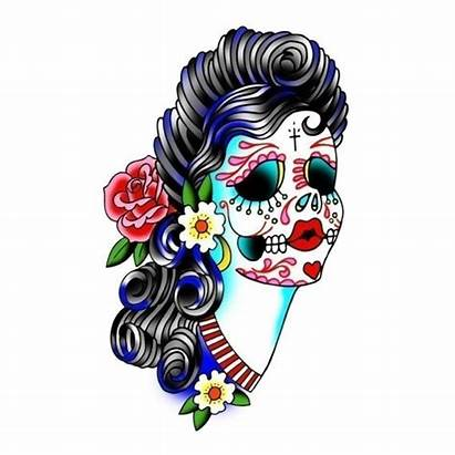 Skull Sugar Clipart Lady Clipground
