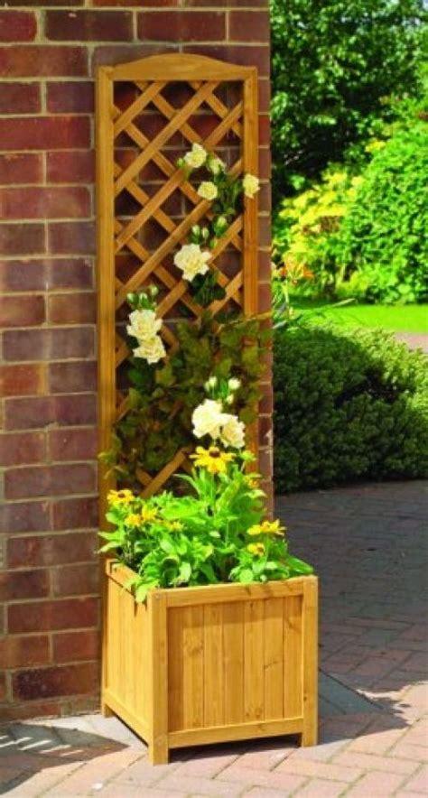 Details About Wooden Garden Trellis Lattice Planter Patio