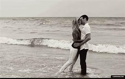 Beach Gifs Kissing Sand Lake Engagement Animated