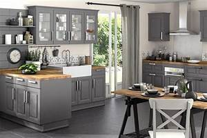 Cuisine bistrot 23 idees deco pour un style bistrot for Meuble de salle a manger avec cuisine carrelage gris anthracite
