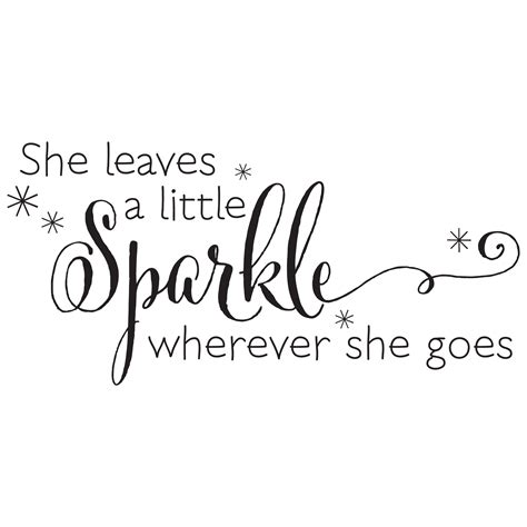 sparkle bathroom mirror she leaves a sparkle wall quotes decal wallquotes com