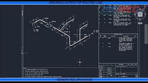 draw piping isometric drawings  isomac software youtube