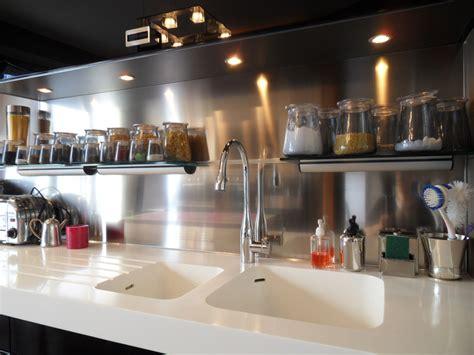 cr馘ence inox cuisine comment poser une credence en inox maison design bahbe com