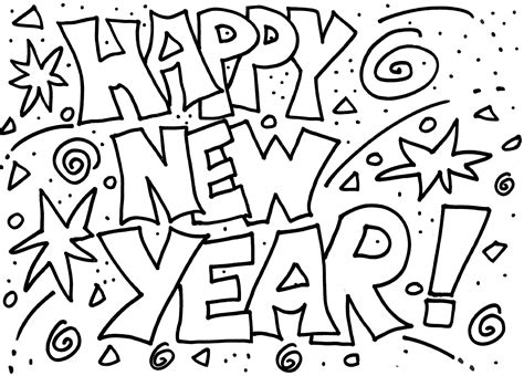 happy new year coloring pages happy new year coloring pages to and print for free