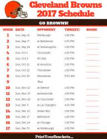 2017 Cleveland Browns NFL Schedule Printable