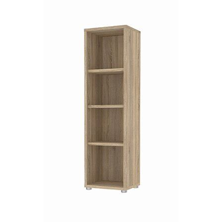 Small Bookcase Walmart by Structure 4 Shelf Narrow Bookcase Finishes