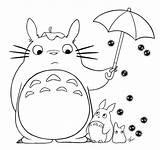 Totoro sketch template