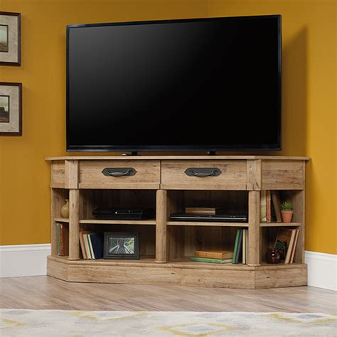 Entertainment Credenzas by Sauder 420758 Viabella Corner Entertainment Credenza Tv