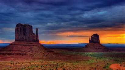 Desert Sky Sunset Gobi Colors Wallpapers Landscape