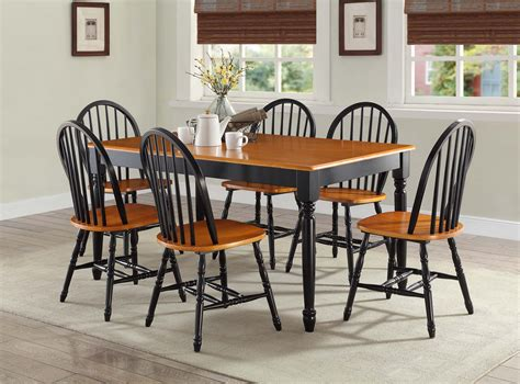 black and oak dining set best home design ideas