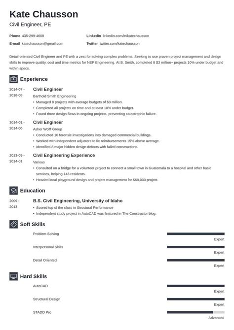 Civil engineers are in charge of creating and building structures like roads and bridges. civil engineering resume example template newcast | Flight attendant resume, Job resume examples ...