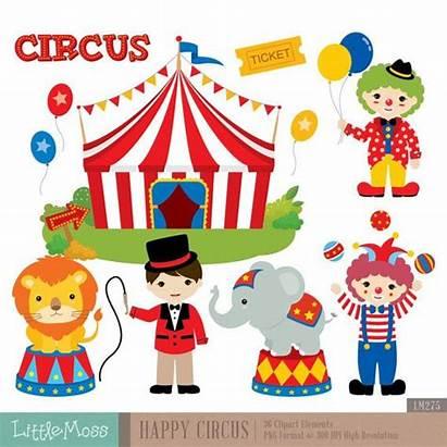 Circus Clipart Digital Carnival Clown Clip Birthday