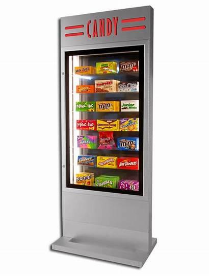Candy Showcase Pylon Theater Display Case Freestanding