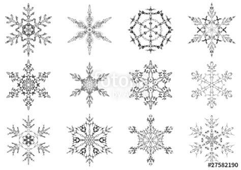 eiskristalle schneeflocken snowflakes stockfotos und