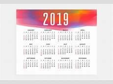Projeto de conceito de layout de calendário 2019