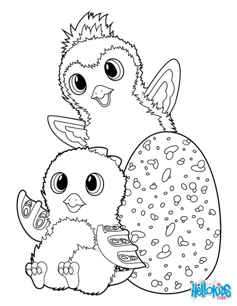 hatchimals draggle  penguala coloring pages hellokidscom