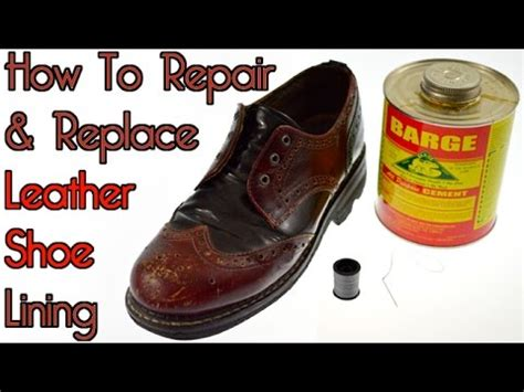 how to restore worn leather repair replace leather shoe lining vintage fluevog