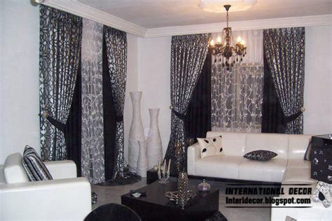 Room With Black Curtains by Curtains Catalog Designs Styles Colors For Living Room