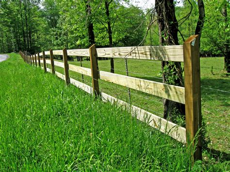 3, 4, And 5 Board Post And Rail Wood Fence