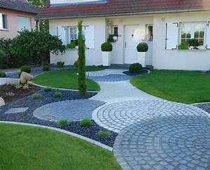 olgreen architecte de vos espaces verts a mulhouse With exemple de jardin de maison 5 les entrees de garage en enrobe