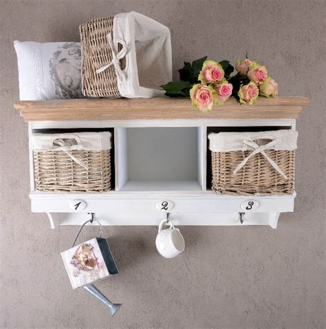 Wandregal Shabby Chic by Wandgarderobe Haken Wandregal Shabby Chic Landhaus Ebay