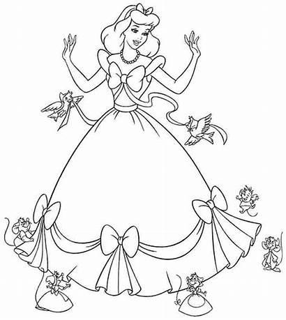 Coloring Princess Disney Pages Pdf Printable Getcolorings