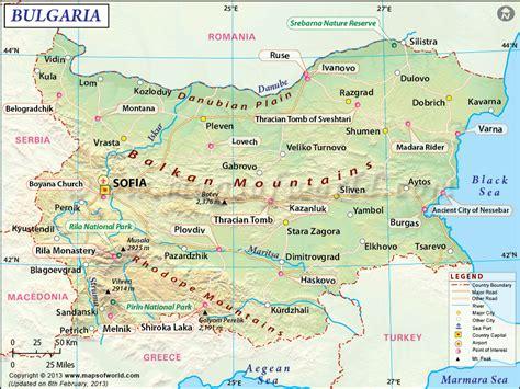 mapa de bulgaria senderismoeuropacom