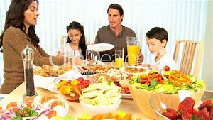 Family Eating Healthy Food: Royalty-free video and stock ...