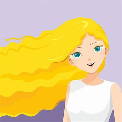 Blonde Hair Clip Clipart Vector Blond Haired