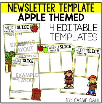 Apple Newsletter Template 5 Teamwork Activities For Students In The Week Of