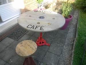 Pied De Table 90 Cm : table bistrot pied rouge plateau touret bois d co de 90 cm table exterieur pinterest ~ Teatrodelosmanantiales.com Idées de Décoration