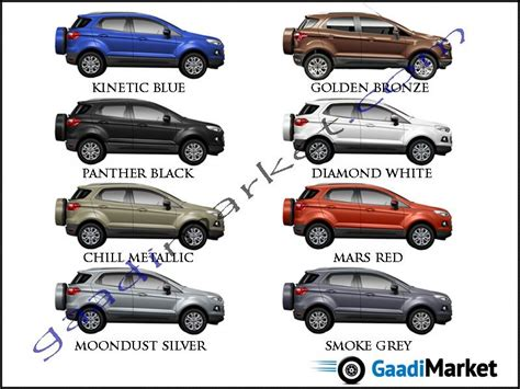 ford colors ecosport colours ford colour options ford