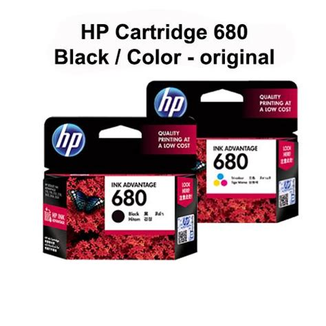 Hp Tinta Original 680 Black cartridge tinta hp 680 black color original elevenia