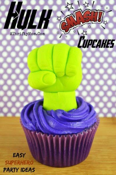 hulk smash cupcakes easy superhero party ideas