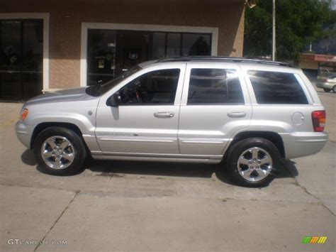 silver jeep grand cherokee 2004 2004 bright silver metallic jeep grand cherokee overland