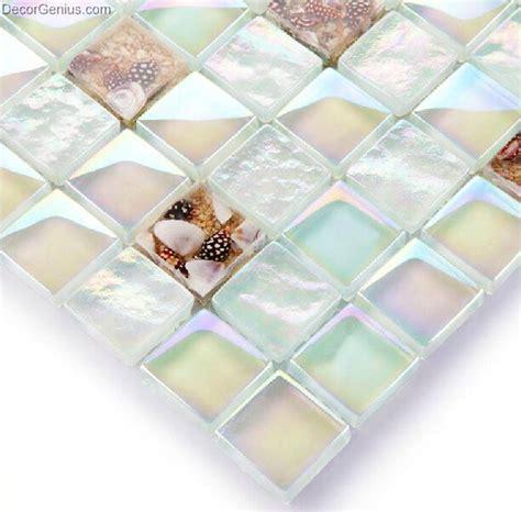 sea glass tile handmade sea shell mosaic tiles of shell