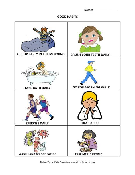 grade 1 habits worksheet summmer vacation worksheets