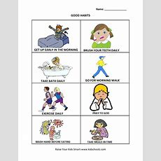 Grade 1  Good Habits Worksheet  Summmer Vacation  Pinterest Worksheets
