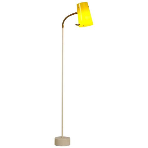 floor l yellow uk scandinavian modern floor l with yellow plexiglass adjustable shade 1950s for sale at 1stdibs